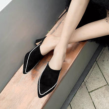 Load image into Gallery viewer, ladies elegant concise mixed-color mules daily casual slip-on heeled mules women high heels dress shoes woman