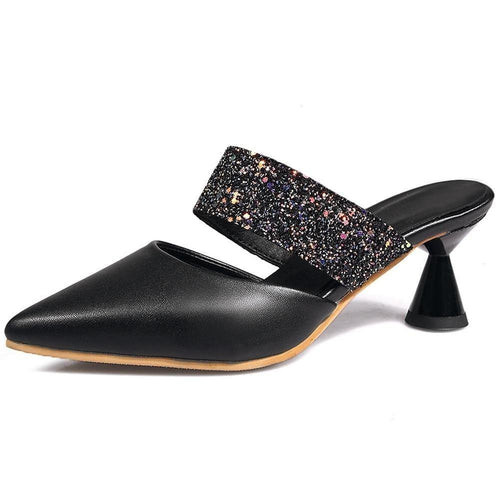 Female Pointed Toe Pumps Slip On High Heel Spring Pumps Women Bling Dress Casual Office Party Shoes Woman - moonaro