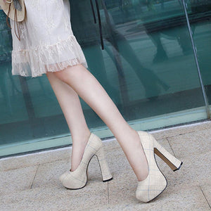 Hot Ladies Ectreme High Heels Pumps Fashion High Platform Spring Pumps Women Party Ol Sexy Shoes Woman
