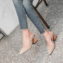 Load image into Gallery viewer, Women High Heels Shoes Real Leather Shoes Women Pumps New Design Heels Small Square Toe Fashion Footwear