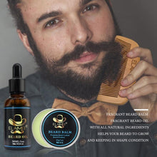 Load image into Gallery viewer, Beard Clean Set Trimming Kit With Essential Shampoo Brush Comb Oil Cream Scissors for Men Cleanse Refresh Grooming