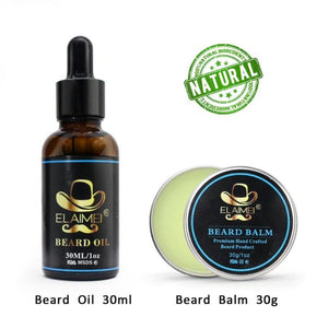 Beard Clean Set Trimming Kit With Essential Shampoo Brush Comb Oil Cream Scissors for Men Cleanse Refresh Grooming