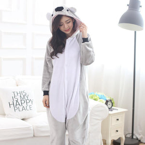 Koala onesies pajamas Women pijama cosplay koala costume onsie Cute Homewear Winter sleep clothing