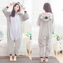 Load image into Gallery viewer, Koala onesies pajamas Women pijama cosplay koala costume onsie Cute Homewear Winter sleep clothing