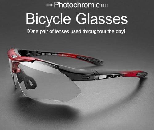 Photochromic Bicycle Sunglasses Lightweight Cycling Eyewear Myopia Frame MTB Mountain UV400 Bike Goggles Accessories