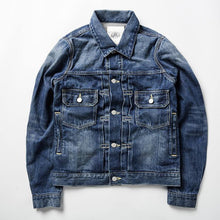 Load image into Gallery viewer, cotton denim jacket casual long sleeve washed denim coat - moonaro