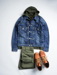 cotton denim jacket casual long sleeve washed denim coat - moonaro