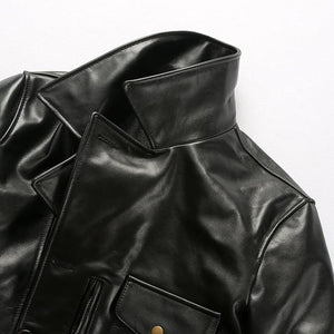 men's cow leather jacket men's genuine cowhide leather stylish jacket