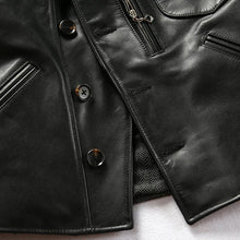 Load image into Gallery viewer, men's cow leather jacket men's genuine cowhide leather stylish jacket