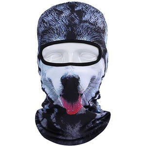 3D Cute Cat Dog Balaclava Full Face Mask Warm Helmet Liner Ski Running Cycling Snowboard Bike Bicycle Riding Face Shield Hat