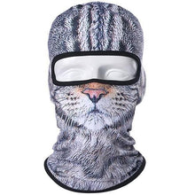 Load image into Gallery viewer, 3D Cute Cat Dog Balaclava Full Face Mask Warm Helmet Liner Ski Running Cycling Snowboard Bike Bicycle Riding Face Shield Hat