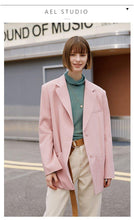 Load image into Gallery viewer, Women loose solid Blazer Long Sleeve casual Coat Office Work Jacket Outerwear fashion streetwear
