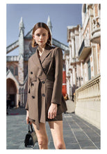 Load image into Gallery viewer, Women Lace Up shorts Suit Notched Collar Blazer Jacket & short ladies Office Wear Suits Female 2 pieces Sets - moonaro