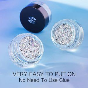 New Eyeshadow Cream Glitter Gel Cream Shimmer Sequins Eye Makeup Accessorices Decoration Party Tool
