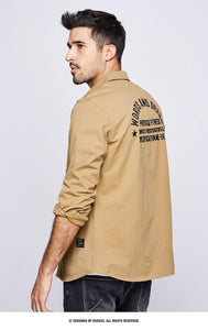 men's long sleeve shirts men fall casual and comfortable cotton embroidery fashion men's shirts