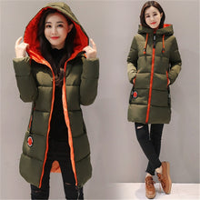 Load image into Gallery viewer, Winter Jacket Women Coat Hooded Outwear Female Parka Thick Cotton Padded Lining Winter Female Basic Coats