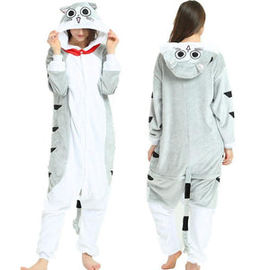 Animal Onesie Pajamas Flannel Hooded Sleepwear Women Pijamas Onesie Unisex Soft Winter Nightie Homewear