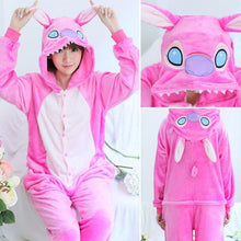Load image into Gallery viewer, Animal Onesie Pajamas Flannel Hooded Sleepwear Women Pijamas Onesie Unisex Soft Winter Nightie Homewear
