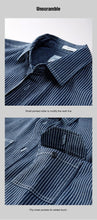 Load image into Gallery viewer, men denim shirt Spring South Korean style  edition fashion leisure stripe long sleeve shirts top