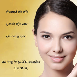 Gold Osmanthus Eye Mask Eye Patches  Remove Dark Circles Eye Bag Collagen Gel Protein Sleep Patche  Eye Care