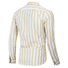 Load image into Gallery viewer, Autumn New Men Striped Shirt Casual Soical Long Sleeve 100% Cotton Shirts Tops