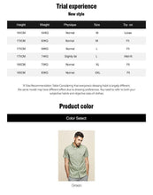 Load image into Gallery viewer, cotton spandex Men's short sleeve shirt summer  fashion leisure contracted  Tooling shirt green men top
