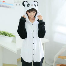Load image into Gallery viewer, Women Onesie Panda Pajama Animal panda sleepwear Adult Unisex Cosplay Nightwear Homewear