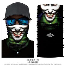 Load image into Gallery viewer, Magic bandana neck warmer Clown Joker Men Skull Ghost Shield Face Mask Headband Bandana Headwear Ring Head Scarf outdoors sport