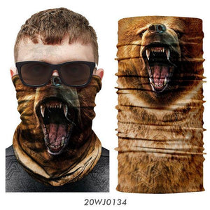Cycling Scarf Animal Bandana Dog Cat Neck Warmer Tube Shield Gaiter Scarf Face Mask Headband Snowboard Bicycle Headwear sports