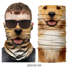 Load image into Gallery viewer, Cycling Scarf Animal Bandana Dog Cat Neck Warmer Tube Shield Gaiter Scarf Face Mask Headband Snowboard Bicycle Headwear sports