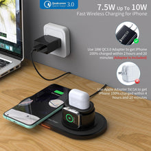 Load image into Gallery viewer, 3 in1 Wireless Charger with Fast Adapter 15W Fast Wireless Charger Dock Station for iPhone Apple Watch AirPods Samsung