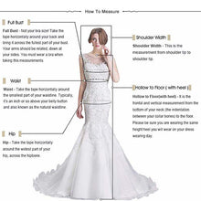 Load image into Gallery viewer, Luxury Wedding Dress high-neck shiny sequins lacing up back handmade appliques bridal dress wedding gown golden