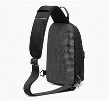"Load image into Gallery viewer, Fashion Shoulder Bag Men for 9.7"" iPad Chest Packs with USB Charging Port Messenger Bag Waterproof Crossbody Bags Male"