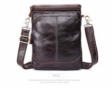 Load image into Gallery viewer, Genuine Leather Bags Men High Quality Messenger Bags Small Travel Dark Brown Crossbody Shoulder Bag For Men