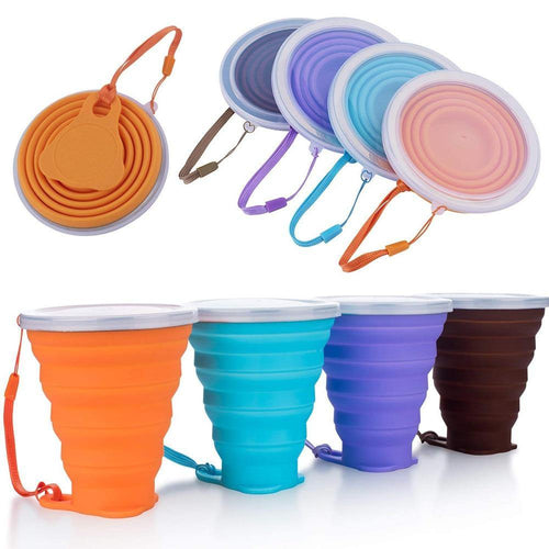 Travel Cup Retractable Folding Coffee Cup Telescopic Collapsible Tea Cup Outdoor Sports Tour Water Cup