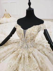 wedding dress with detachable train off the shoulder sequin pattern lace up ball gown wedding dresses suknie slubne