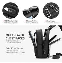 Load image into Gallery viewer, Scalable Multifunction Crossbody Bags Men USB Charging Chest Pack Messengers Chest Bag Shoulder Bag Male