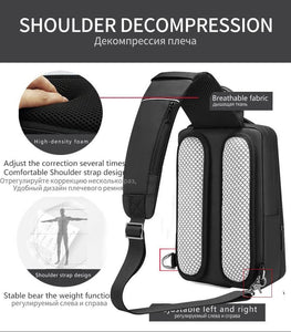 Scalable Multifunction Crossbody Bags Men USB Charging Chest Pack Messengers Chest Bag Shoulder Bag Male