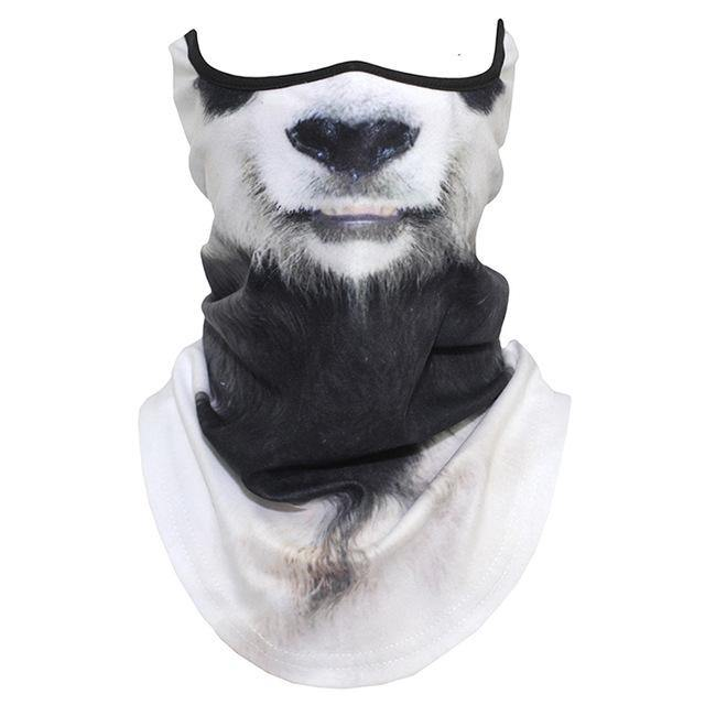 3D Animal Tiger Scarf Neck Gaiter Winter Polar Fleece Warm Half Face Cover Dog Fox Wolf Neck Tube Ring Bandana Scarves Men Women
