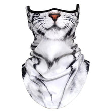 Load image into Gallery viewer, 3D Animal Tiger Scarf Neck Gaiter Winter Polar Fleece Warm Half Face Cover Dog Fox Wolf Neck Tube Ring Bandana Scarves Men Women