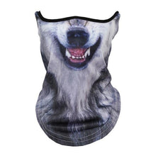 Load image into Gallery viewer, 3D Animal Scarf Neck Warmer Tube Bicycle Winter Snowboard Balaclava Halloween Headband Party Dog Panda Windproof Men Women