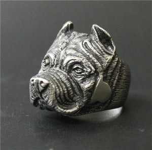 Size 7~14  Women Gold Silver Black Lovely Humman Friend Shar Pei Dog Ring 316L Stainless Steel Jewelry Newest Biker Ring
