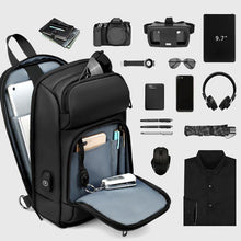 Load image into Gallery viewer, Black Chest Packs Men USB Charging Casual Shoulder Crossbody Bags Water Repellent Travel Messenger Bag Male - moonaro