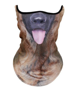 3D Animal Neck Warmer Scarf Half Face Shield Bicycle Winter Snowboard Balaclava Halloween Party Cat Dog Panda Pig Wolf Windproof