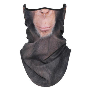 3D Dog Cat Animal Cute Neck Gaiter Cover Half Face Shield Winter Warmer Cover Neck Tube Fleece Bandana Scarf Women Men