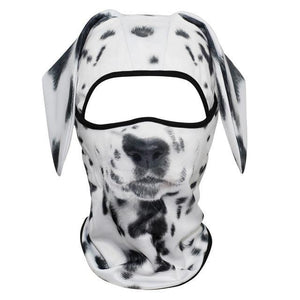 3D Dog Animal Ear Balaclava Cap Full Face Mask Head Guard  Breathable Mesh Bicycle Funny Shield Snowboard Helmet Liner Men Women