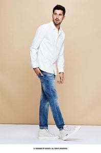 Spring Cotton Pocket Plain White Shirt Men Dress Button Casual Slim Fit Long Sleeve Male Casual Brand Clothes