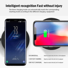 Load image into Gallery viewer, 5W/7.5W/10W Qi Fast Wireless Charging for Samsung Xiaomi Huawei Fast Wireless Charging Pad For iphone X 8 Plug QC3.0 - moonaro