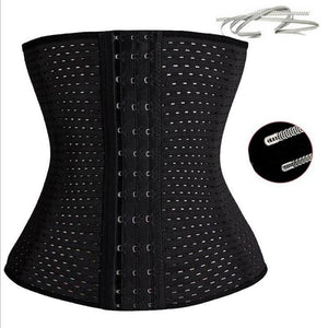 Women Waist Cinchers Ladies Corset Shaper Band  Body Building Front Buckle Three Breasted