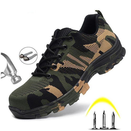 Men's Safety Shoes Steel Toe Work/Safety Boots Security Puncture Proof Boots Work Breathable Sneakers